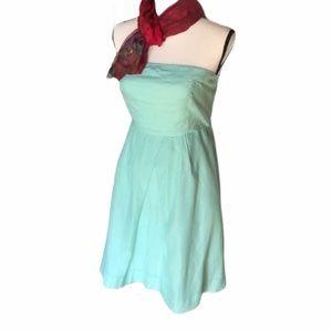 J. Crew   Silk & Cotton Green Dress